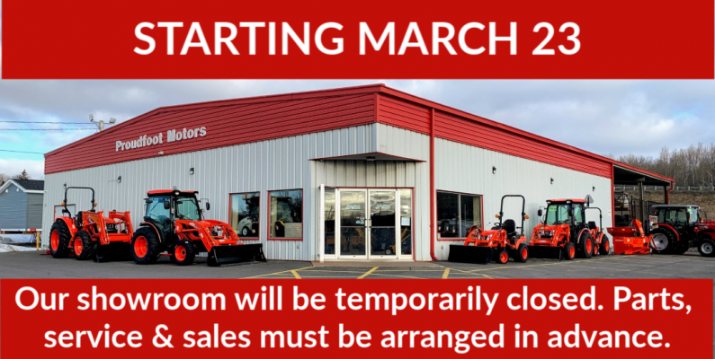 Showroom temporarily closed